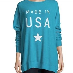WILDFOX Made In USA Sweatshirt Size Sm. Oversized
